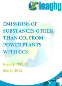 Emissions of substances other than CO2 from power plants with CCS