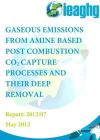 Gaseous emissions from amine based post combustion CO2 capture processes and their deep removal