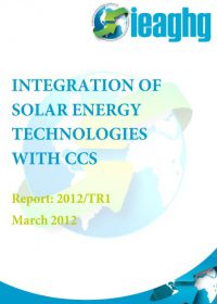 Integration of solar energy technologies with CCS