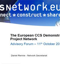 The European CCS Demonstration Project Network: Advisory forum – 11th October 2013