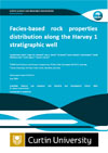 Facies-based rock properties distribution along the Harvey 1 stratigraphic well