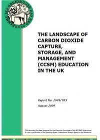 The landscape of carbon dioxide capture, storage, and management (CCSM) education in the UK