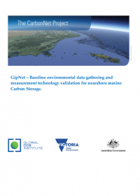 GipNet – Baseline environmental data gathering and measurement technology validation for nearshore marine Carbon Storage