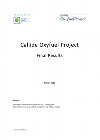 Callide Oxyfuel Project – Final Results