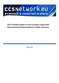 2015 situation report on the European Large Scale Demonstration Projects Network. Public summary
