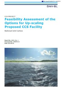 Feasibility assessment of the options for up-scaling proposed CCS facility