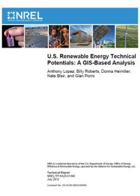 U.S. renewable energy technical potentials: a GIS-based analysis