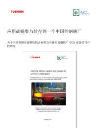 应用碳捕集与封存到一个中国的钢铁厂。关于中国首钢京唐钢铁联合有限公司曹妃甸钢铁厂CCS 设备的可行性研究