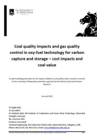 Coal quality impacts and gas quality control in oxy-fuel technology for carbon capture and storage – cost impacts and coal value