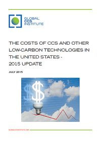 The costs of CCS and other low-carbon technologies in the United States: 2015 update