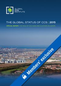 The global status of CCS: 2015. Special report: the role of CCS hubs and clusters in Europe