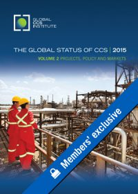 The global status of CCS: 2015. Volume 2: projects, policy and markets