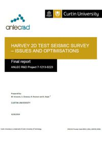Harvey 2D test seismic survey – issues and optimisations: final report