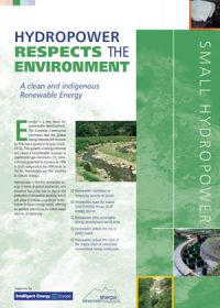 Hydropower respects the environment: a clean and indigenous renewable energy