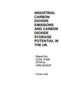 Industrial carbon dioxide emissions and carbon dioxide storage potential in the UK