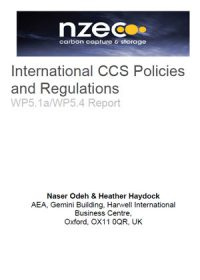 International CCS policies and regulations: WP5.1a/WP5.4 report