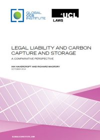 Legal liability and carbon capture and storage: a comparative perspective