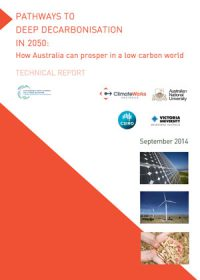 Pathways to deep decarbonisation in 2050: how Australia can prosper in a low carbon world. Technical report