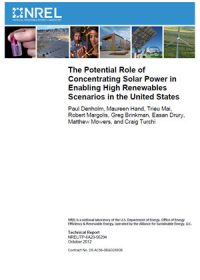 The potential role of concentrating solar power in enabling high renewables scenarios in the United States