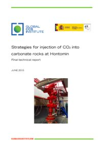 Strategies for injection of CO2 into carbonate rocks at Hontomin: final technical report