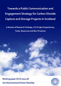 Towards a public communication and engagement strategy for carbon dioxide capture and storage projects in Scotland: a review of research findings, CCS project experiences, tools, resources and best practices