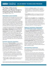 The role of electricity markets and market design in integrating solar generation