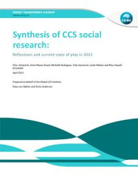 Synthesis of CCS social research: Reflections and current state of play in 2013