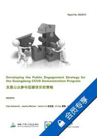 发展公众参与低碳项目的策略