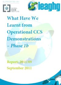 What have we learnt from operational CCS demonstrations: phase 1b
