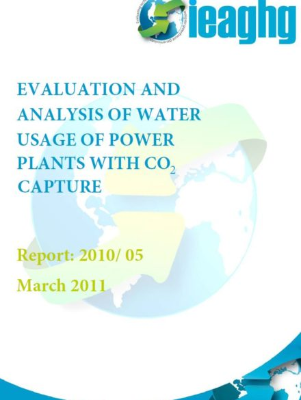 Evaluation and analysis of water usage of power plants with CO2 capture