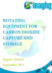 Rotating equipment for carbon dioxide capture and storage