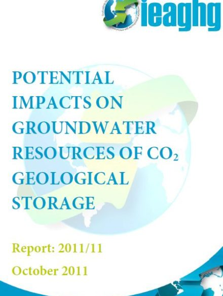 Potential impacts on groundwater resources of CO2 geological storage