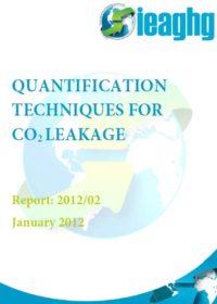 Quantification techniques for CO2 leakage