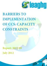 Barriers to implementation of CCS: capacity constraints