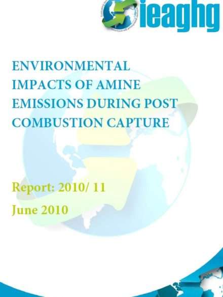 Environmental impacts of amine emissions during post combustion capture