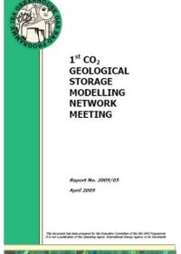 1st CO2 Geological Storage Modelling Network meeting