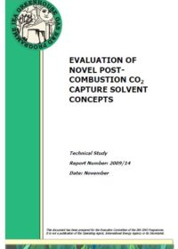 Evaluation of novel post-combustion CO2 capture solvent concepts