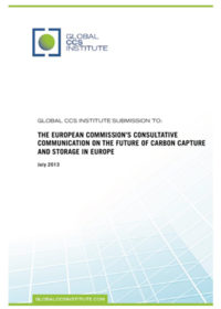 Global CCS Institute submission to: the European Commission's consultative communication on the future of carbon capture and storage in Europe