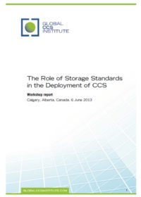 The role of storage standards in the deployment of CCS: workshop report