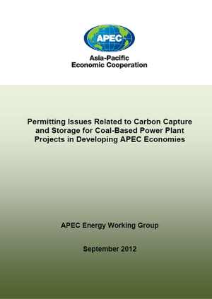 Permitting issues related to carbon capture and storage for coal-based power plant projects in developing APEC economies