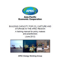 Building capacity for CO2 capture and storage in the APEC region: A training manual for policy makers and practitioners