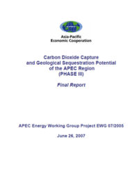 Carbon dioxide capture and geological sequestration potential of the APEC region (phase III): final report