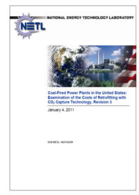 Coal-fired power plants in the United States: examination of the costs of retrofitting with CO2 capture technology, revision 3