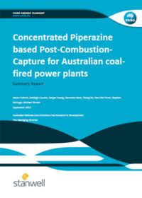 Concentrated piperazine based post-combustion-capture for Australian coal-fired power plants: summary report