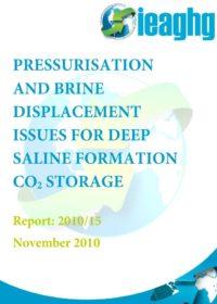 Pressurisation and brine displacement issues for deep saline formation CO2 storage