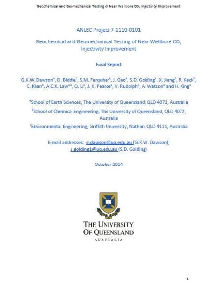 Geochemical and geomechanical testing of near wellbore CO2 injectivity improvement