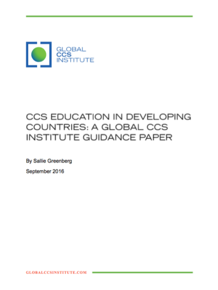 CCS education in developing countries – A Global CCS Institute guidance paper