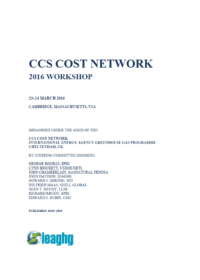 Proceedings from the 2016 CCS Costs Workshop