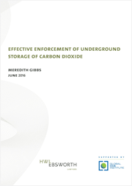 Effective enforcement of underground storage of carbon dioxide
