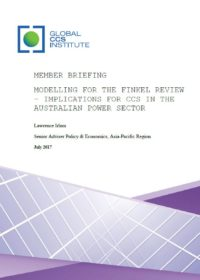 Modelling for the Finkel Review – Implications for CCS in the Australian Power Sector